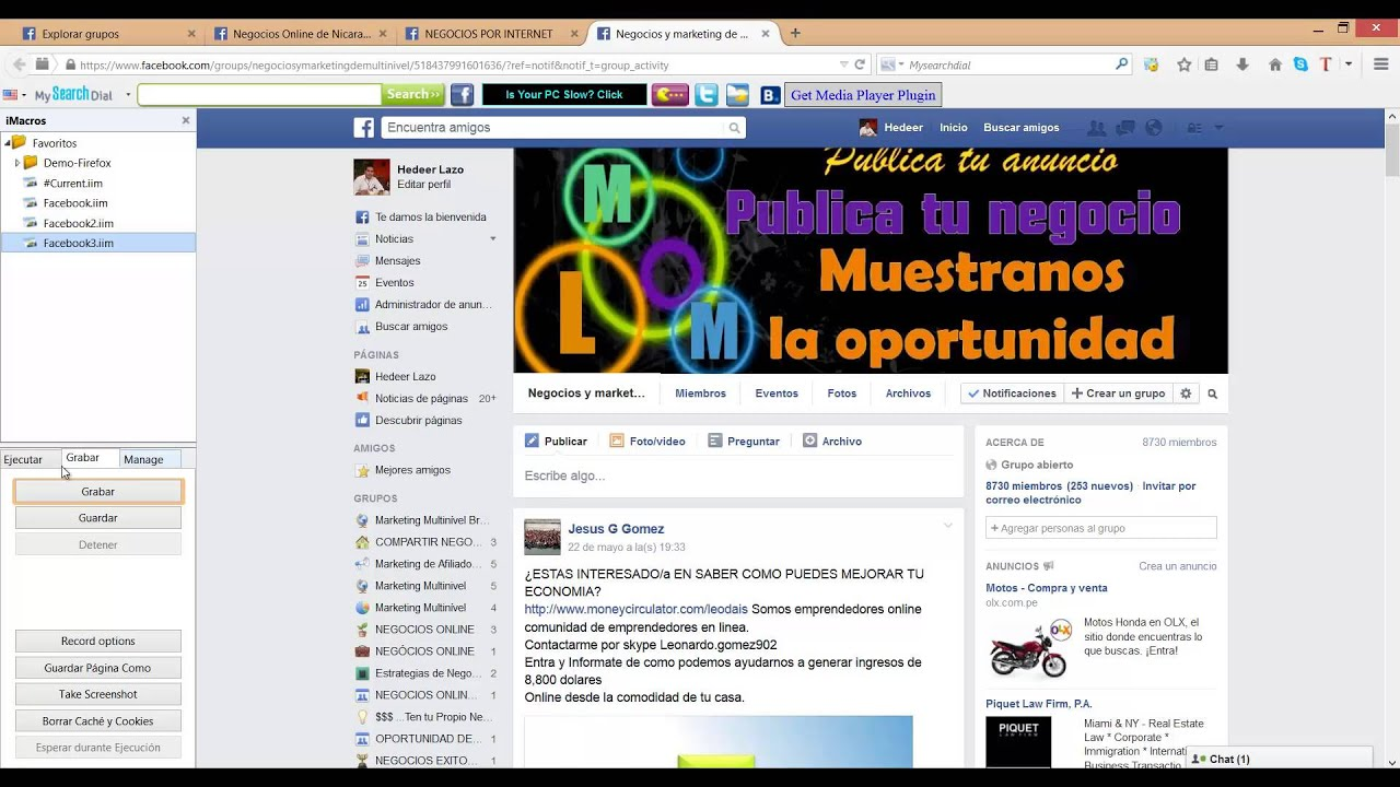 Auto Post Group Facebook 30 Imacros 2015 By Jsmacros Scrape