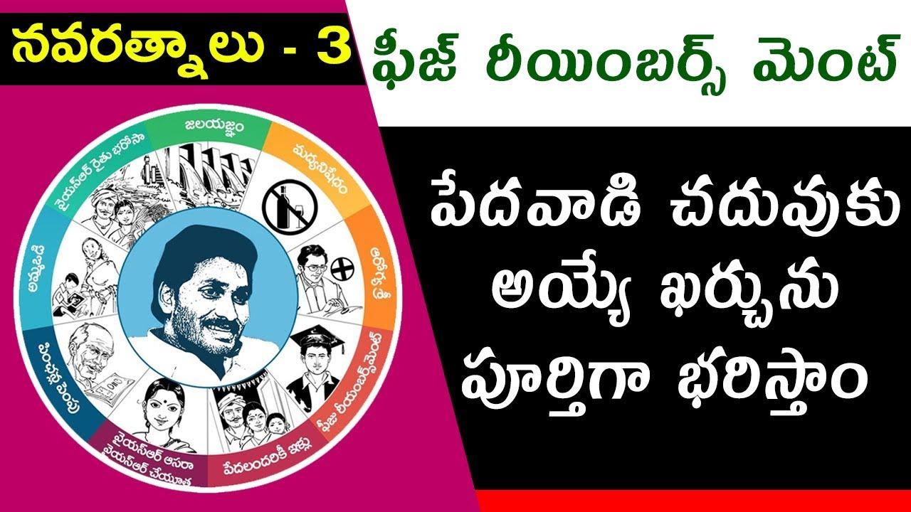 YS Jagan Mohan Reddy's Promises Navaratnalu 3