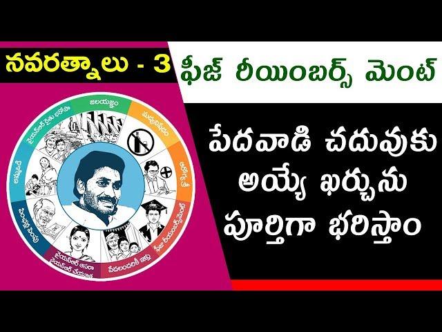 YS Jagan Mohan Reddy's Promises | #Navaratnalu 3 | #FeeReimbursement