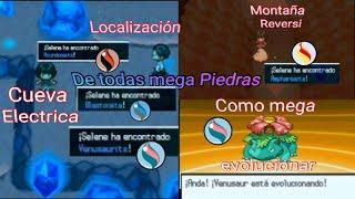 Pokémon Mega Delta#Localizacion de todas la Mega piedras en cueva eléctrica y  como Mega evolucionar