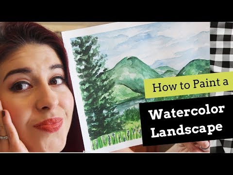 How to Paint a Watercolor Landscape (Step-by-Step Guide)