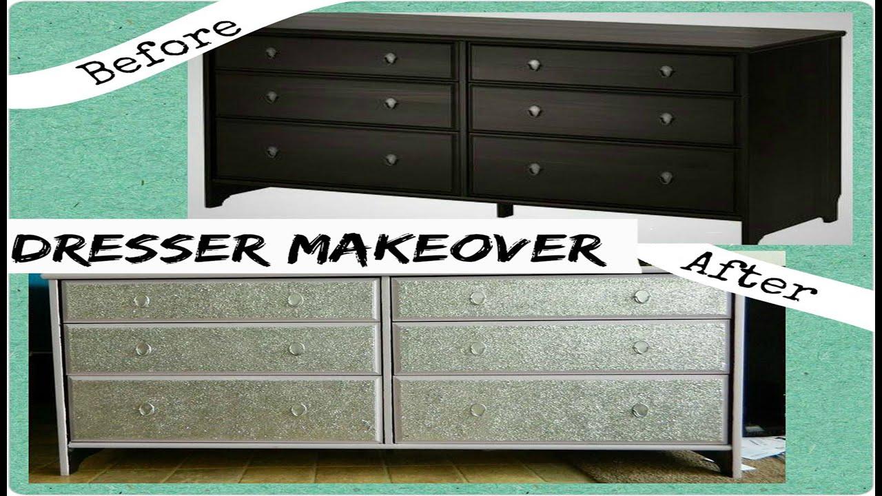 DIY  Dresser Makeover with Glitter (IKEA Hack)!!! - YouTube