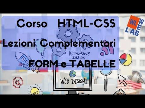Corso Di HTML E CSS - Form Seconda Parte