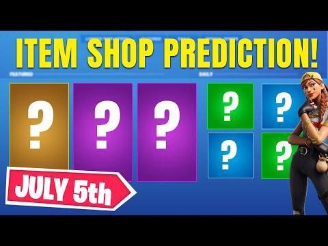 Fortnite Item Shop Prediction - July 5th 2020