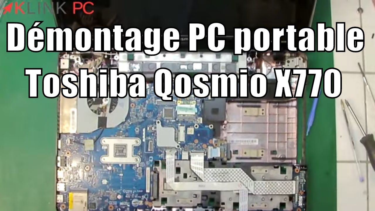 Tuto comment demonter un toshiba qosmio x770 how open a for Toshiba electric motor data sheets