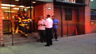 FDNY, NYPD AND EMS ON SCENE OF A GAS LEAK CALL IN THE BED-STUY AREA OF BROOKLYN IN NEW YORK CITY.