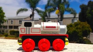Thomas & Friends Stanley Wooden Railway Toy Train Review By Mattel Fisher Price