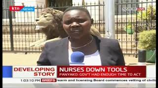 Nurses down their tools in 11 counties countrywide  over unpaid services and  uniform allowances