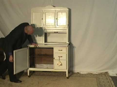 Sellers (Hoosier) Cabinet ur60 - YouTube