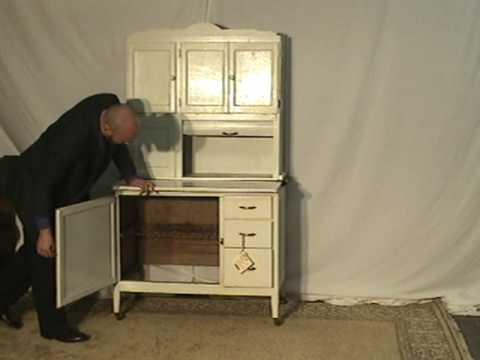 Sellers Hoosier Cabinet ur60  YouTube