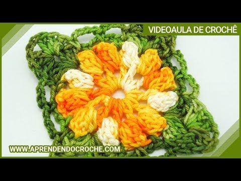 Motivo Flor de Croche Carrossel - Aprendendo Croch? - YouTube