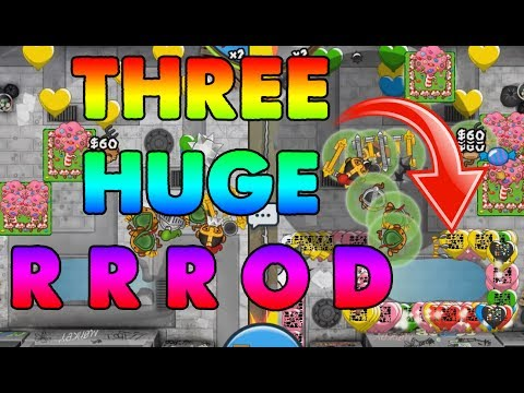 THREE RRODS in 1 game! - Quest for 10 Million E4 - Bloons TD Battles