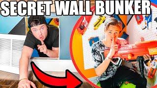 Hidden Secret Bunker Behind Wall! (Nerf & Gaming Room)