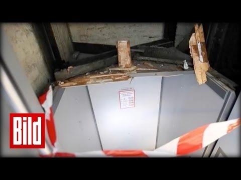 Paternoster zerstört - E-Bike will Fahrstuhl fahren ( Bezirksamt / Hamburg )