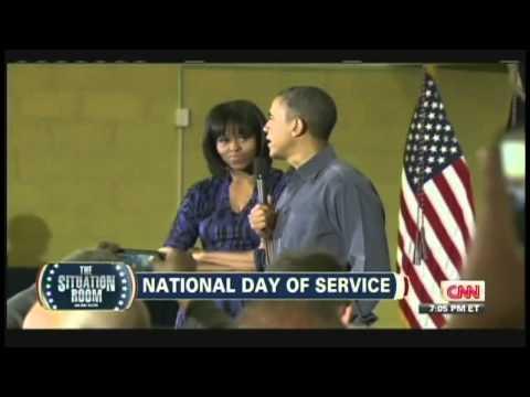 President Obama National Day of Service Burrville Elementary School Washington DC (January 19, 2013)
