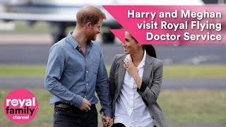 Prince Harry and Meghan visit Royal Flying Doctor Service in Australia