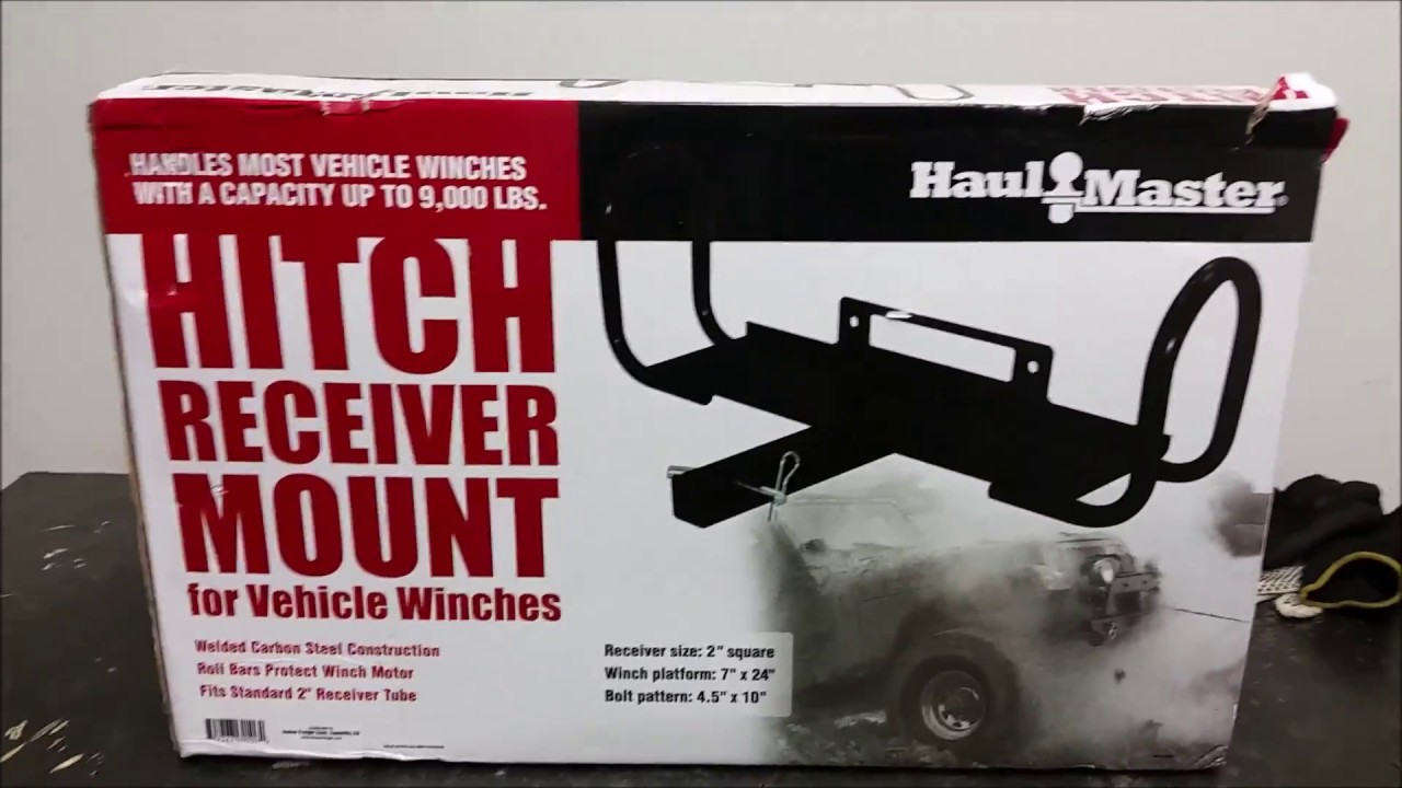 Harbor freight winch project - mounting the winch