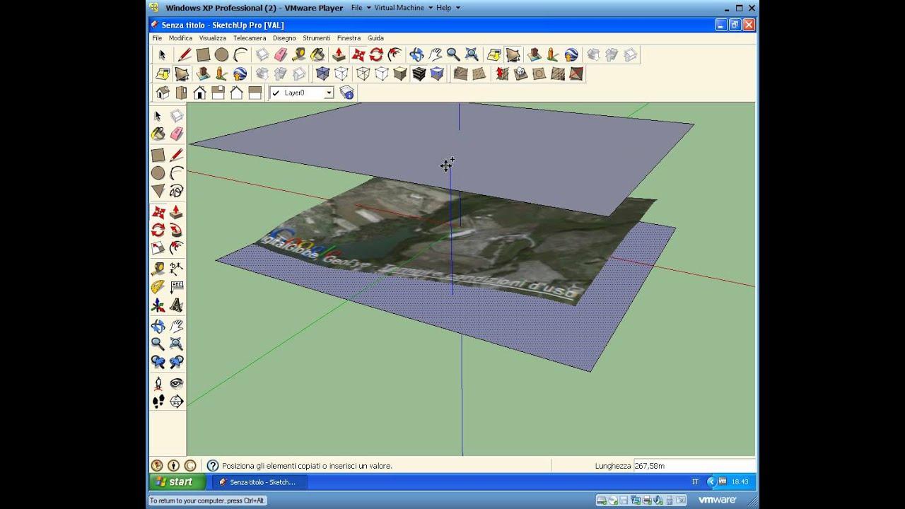 Creare curve di livello da google maps tramite sketchup for Google planimetria