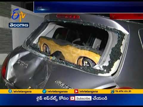 Drunk Driver Loses Control, Car Hits a Man | at Banjara Hills | Hyderabad