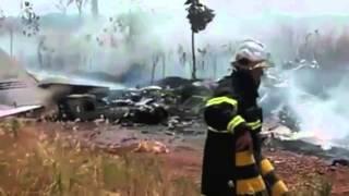 Avião cai em Tangará da Serra e um morre