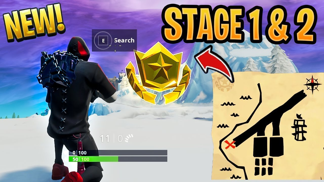 search the treasure map signpost found in paradise palms location fortnite season 8 week 8 challenge - fortnite season 8 week 8 treasure map