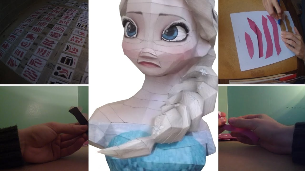 Papercraft PAPERCRAFT #4 - Elsa Bust - Frozen (Stop Motion)