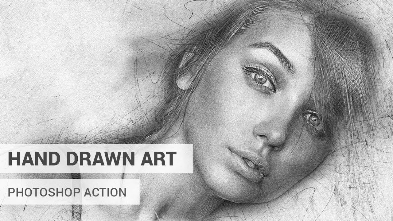Hand drawn art photoshop action tutorial