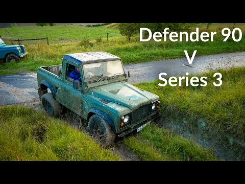 Land Rover Defender 90 vs Series 3 Off Road Challenge