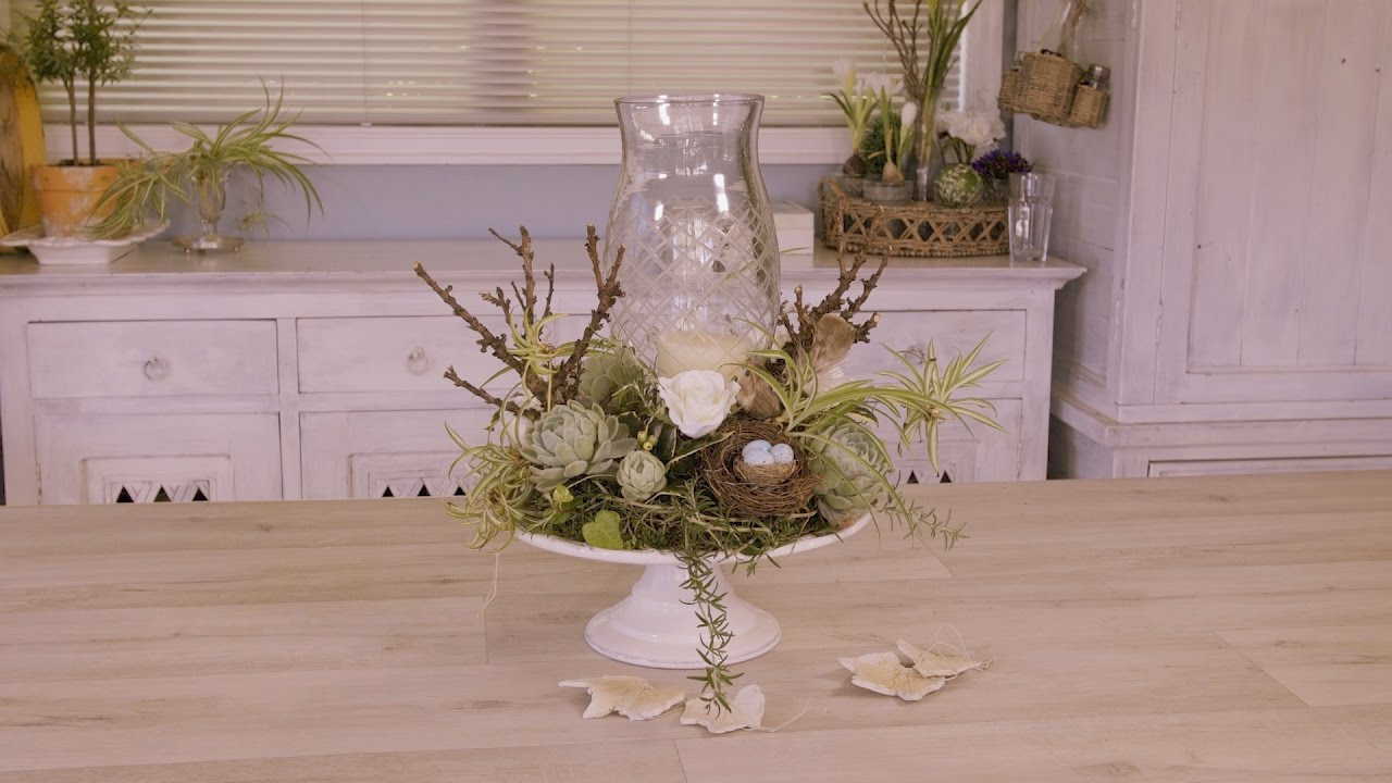 How To Make A French Inspired Christmas Table Flower Arrangement