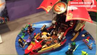 NY Toy Fair 2015: LEGO Ninjago Final Flight of Destiny's Bounty 70738 Set Video