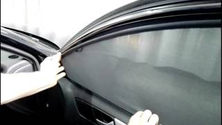 Laitovo car sunshades Installation( holders and magnets) Volkswagen Jetta 6