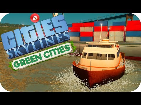 Cities: Skylines Green Cities ▶FERRY CRASHES!◀ Cities Skylines Green City DLC Part 44