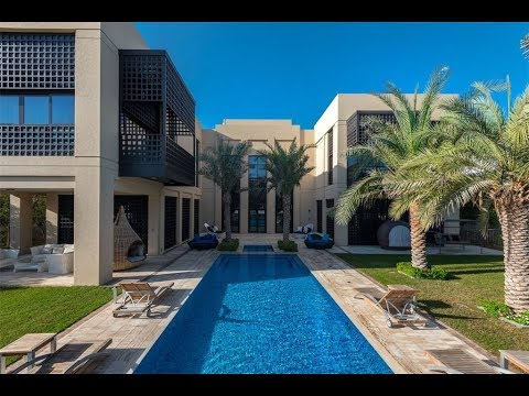 Modern Arabic Mansion on the Crystal Lagoon in Dubai | Sotheby's International Realty
