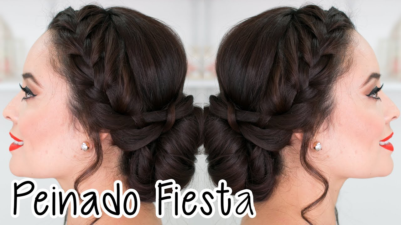 Peinados d fiestas peinados para boda cabello largo - Peinados de fiesta cabello largo ...