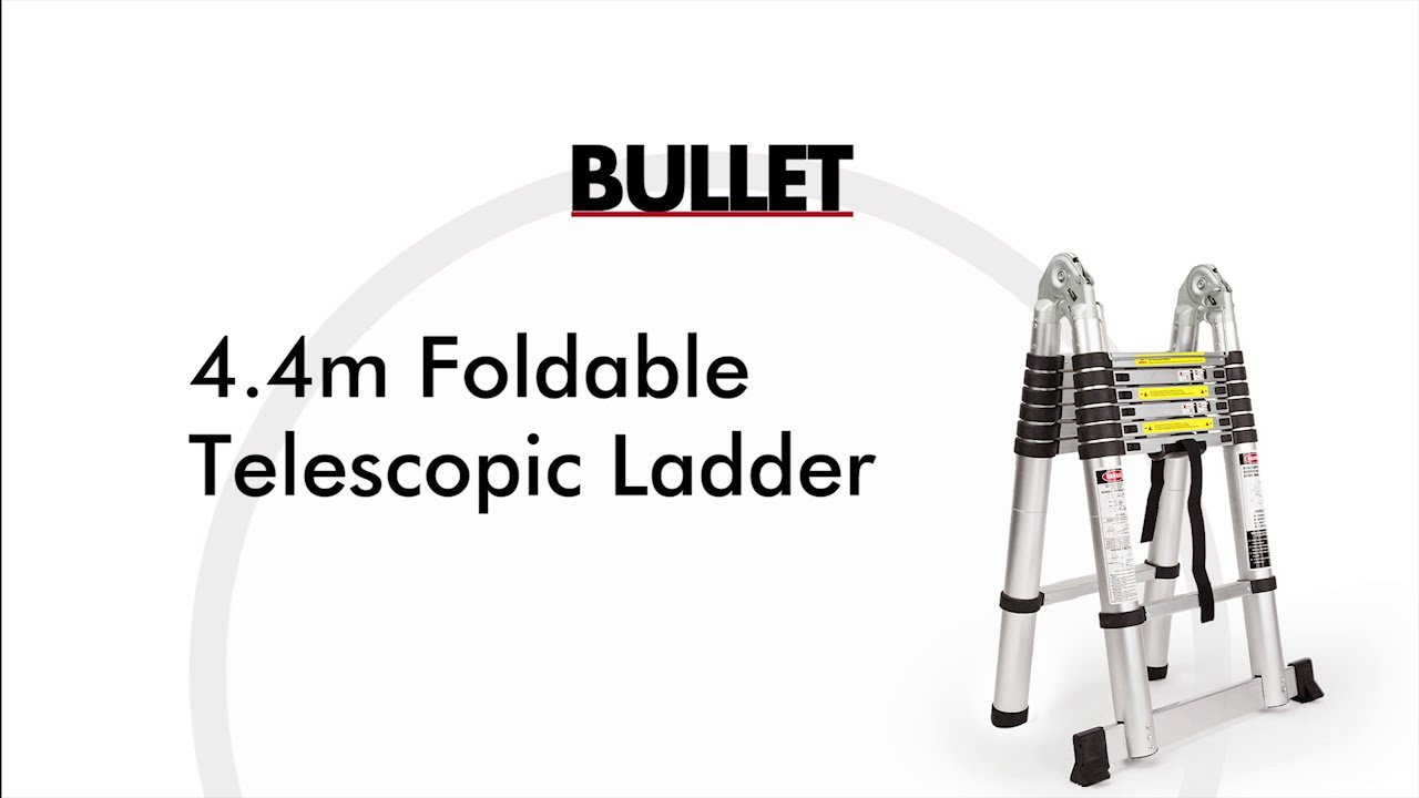 Bullet 4.4m foldable telescopic ladder