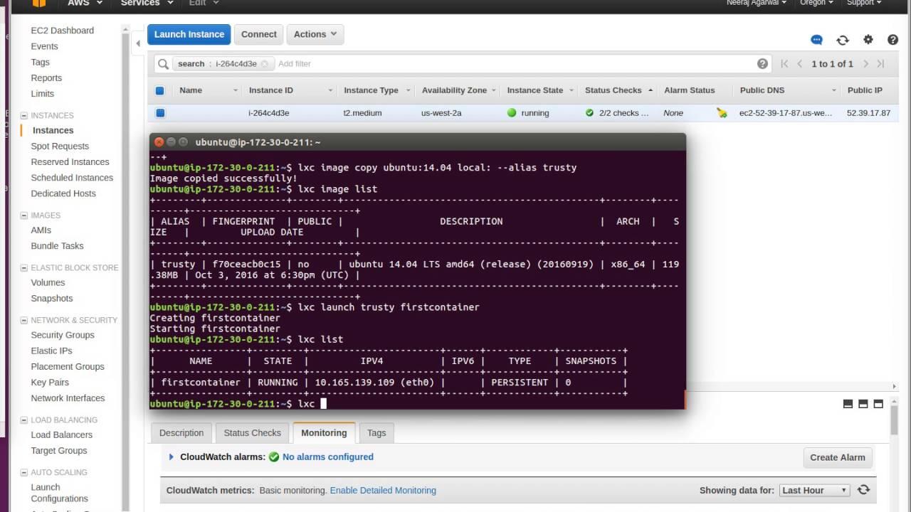 LXD container setup AWS EC2 Server (Part 2)