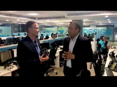 Arnie Bellini visits IT By Design Network Operation Center in Noida, India CTA