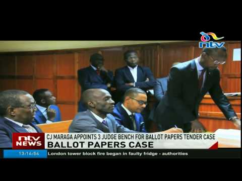 CJ Maraga appoints 3-judge bench for ballots paper tender case