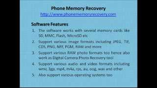 Phone Memory Recovery - An Easy To Use Recovery Program