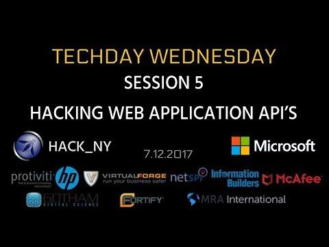 TECHDAY 5: HACKING WEB APPLICATION API'S