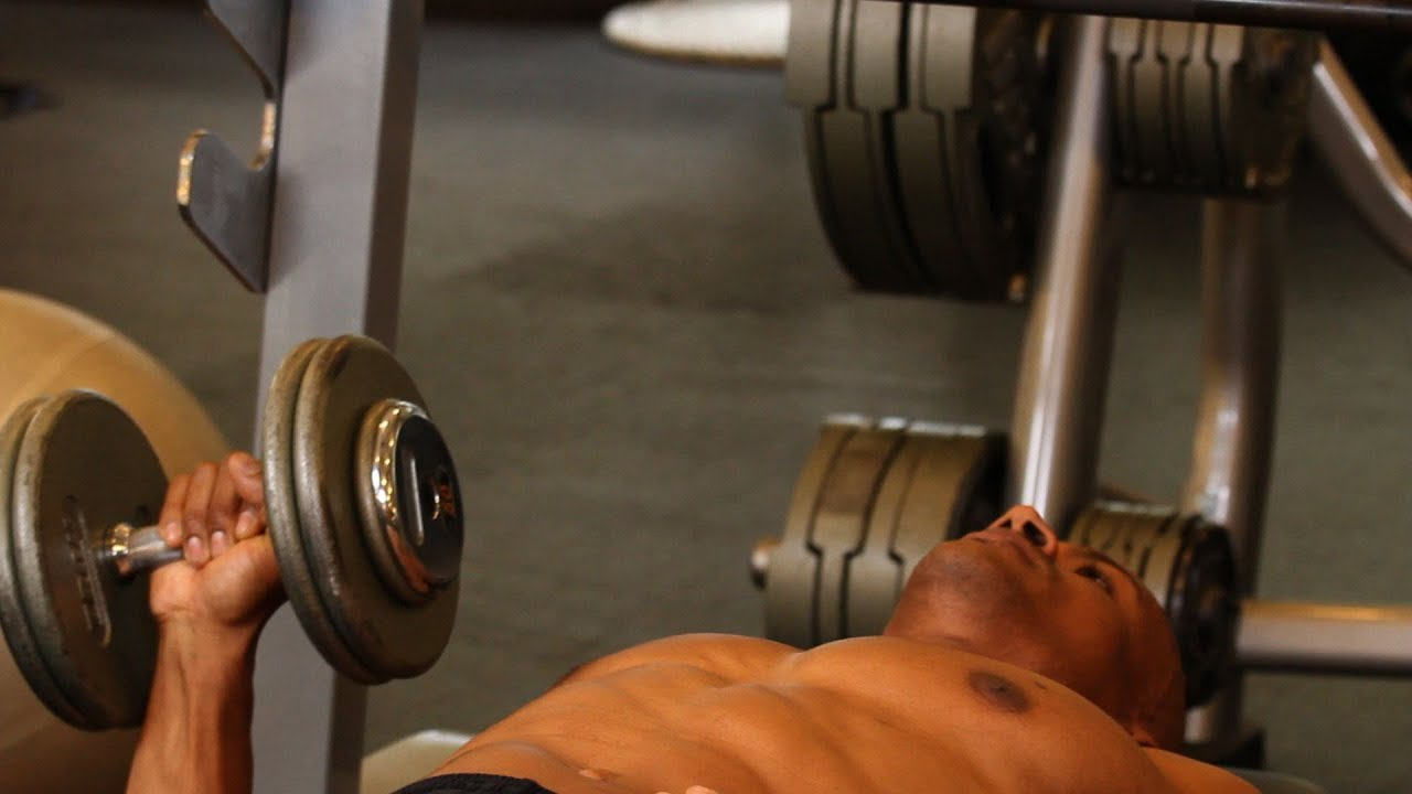 How To Do One-Arm Dumbbell Bench Press   Chest Workout - Youtube
