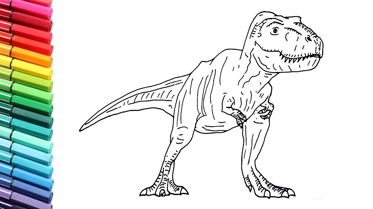 How to Draw The T-Rex From Jurassic World Fallen Kingdom ...