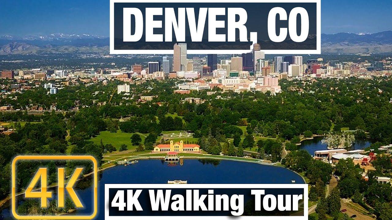 4K City Walks: Denver, Colorado Cherry Creek Area - Virtual Walk Treadmill City guide