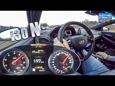 Hyundai I30 N (275hp) - 0-200 Km/h Acceleration (60FPS)