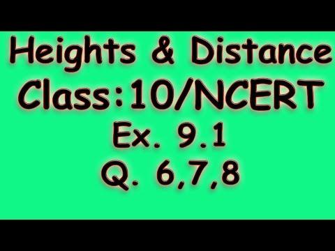Heights & Distances: Class 10 / NCERT solutions