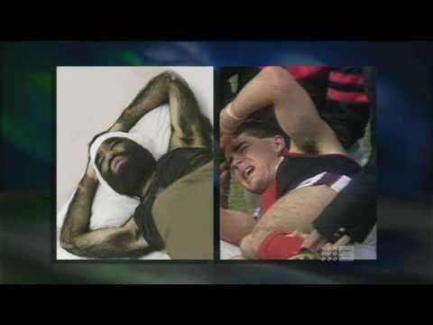 The Footy Show - 500th episode - Garry Lyon stretcher clip
