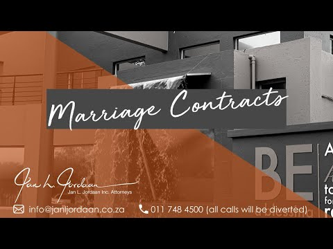 Marriage Contracts in South Africa