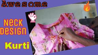 Latest Neck design || Cutting and Stitching full complete || neck design for kurti,suit || Hindi