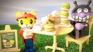 しまじろうのハンバーガーショップ★アンパンマン バイキンマン しょくぱんまん ドキンちゃん