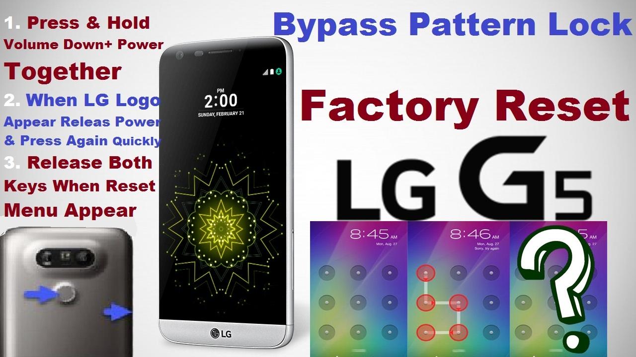 Hard Reset LG G5 (Reset Pattern Lock, Password, Pin lock)